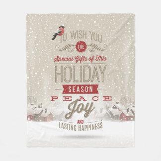 Noël souhaite la couverture d'ouatine