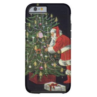 Noël vintage, le père noël avec des présents coque iPhone 6 tough