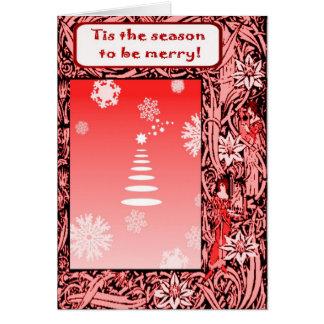 Noël vintage, Tis la saison à être joyeuse Carte