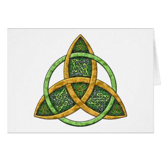 Noeud celtique de trinité carte de vœux