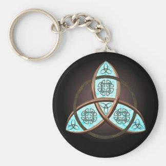 Noeud celtique de trinité porte-clé rond