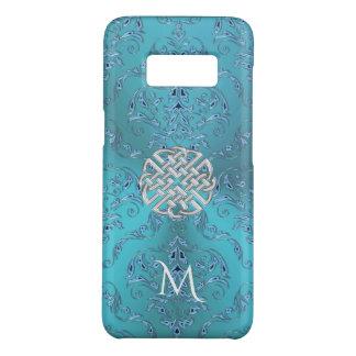 Noeud de Celtic de damassé de turquoise Coque Case-Mate Samsung Galaxy S8