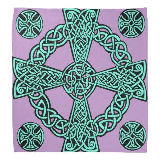 Noeud de lavande de turquoise de croix celtique bandana