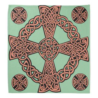 Noeud de pêche de vert de menthe de croix celtique bandana