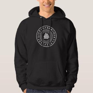Noeud de Valknut - de Wotans - sweatshirt d'Odin