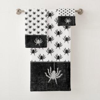 Noir/blanc énormes de motif d'araignée de