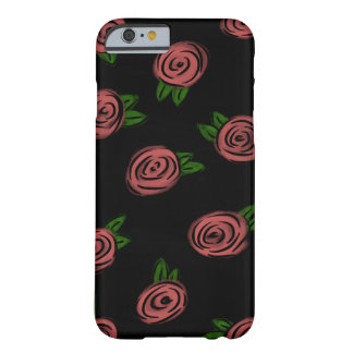 Noir comique de roses coque iPhone 6 barely there