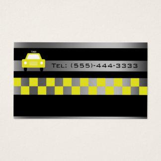 Noir dans la carte de service de taxi de ville de