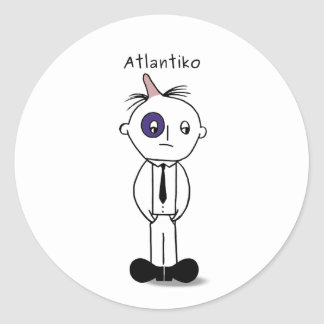 Noir d'Atlantiko Sticker Rond