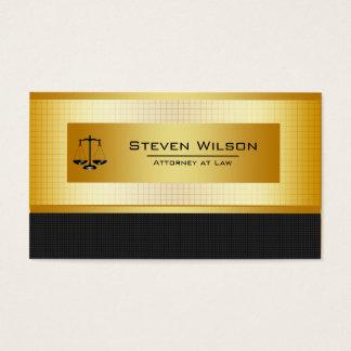Noir d'avocat et échelle juridique d'or cartes de visite