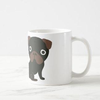 Noir de carlin de regarder mug blanc