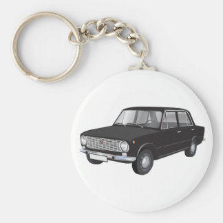 Noir de Fiat 124 Porte-clés