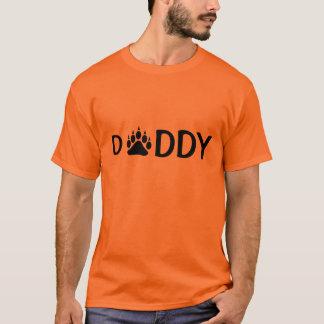 Noir de patte d'ours de papa t-shirt