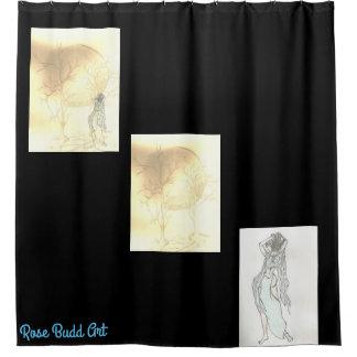 noir de rideau en douche