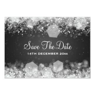 Noir de scintillement de nuit de mariage d'hiver carton d'invitation  12,7 cm x 17,78 cm