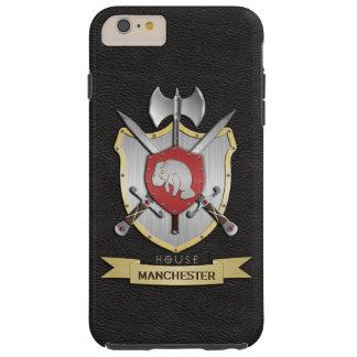 Noir de Sigil de crête de bataille de lamantin Coque iPhone 6 Plus Tough