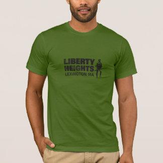 Noir de tailles de liberté (la pièce en t des t-shirt