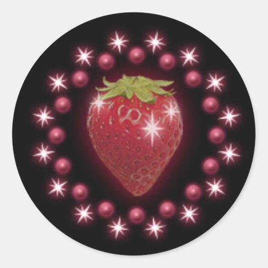 noir de vin rouge d 39 autocollant de perle de fraise sticker rond zazzle. Black Bedroom Furniture Sets. Home Design Ideas