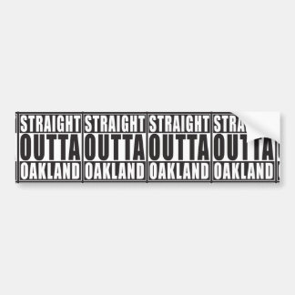 Noir droit d'Outta Oakland Autocollant De Voiture
