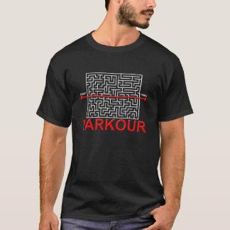 Noir drôle de T-shirt de labyrinthe de Parkour