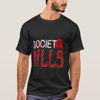 NOIR du T-shirt des hommes de société
