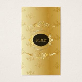 Noir élégant et cadre vintage de dentelle d'or cartes de visite