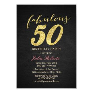 Noir élégant et or 50 fabuleux carton d'invitation  12,7 cm x 17,78 cm