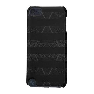 Noir embelli par Jacquard rayé Coque iPod Touch 5G
