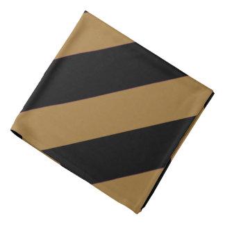 Noir et Bandana rayé d'or