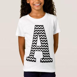 Noir et blanc Chevron le T-shirt d'une fille de