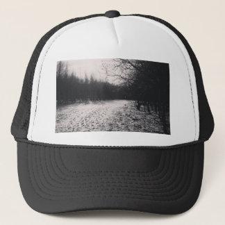 Noir et blanc congelé casquette