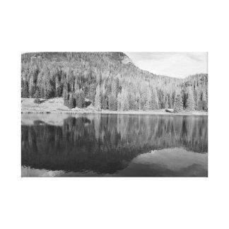 Noir et blanc d'art de photo de paysage de nature toiles