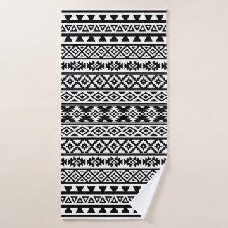 Noir et blanc de motif stylisés par Aztèque