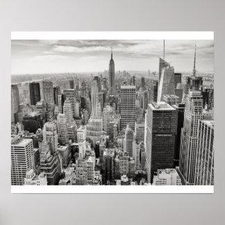 Noir et blanc de New York City