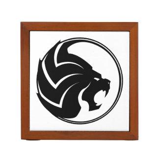 """""""Noir et blanc d'organisateur de bureau du lion"""""""