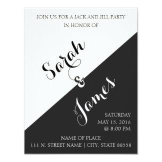 | noir et blanc Jack et invitation de partie de