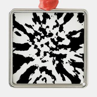 noir et blanc ornement carré argenté