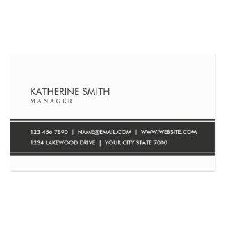Noir et blanc simple simple élégant professionnel cartes de visite professionnelles