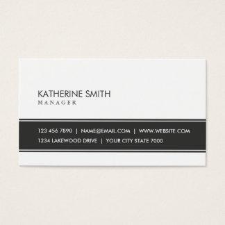 Noir et blanc simple simple élégant professionnel cartes de visite
