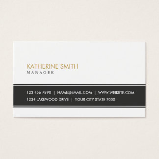 Noir et blanc simple simple professionnel élégant carte de visite standard