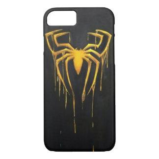 Noir et cas d'araignée d'or coque iPhone 7