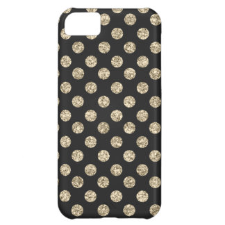 Noir et cas de l'iPhone 5C de pois de Coque iPhone 5C