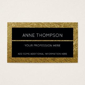 noir et d'or, chic et élégant, professionnel cartes de visite