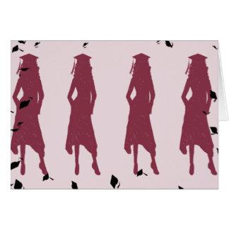 noir et filles de diplômé de Bourgogne Carte De Vœux