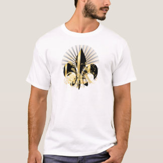 Noir et Gold Fleur de Lis T-shirt