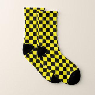 Noir et jaune Checkered