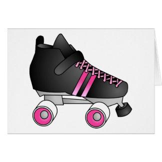 Noir et rose de patin de Derby de rouleau Carte