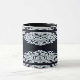 Noir et tasse gris-clair de conception