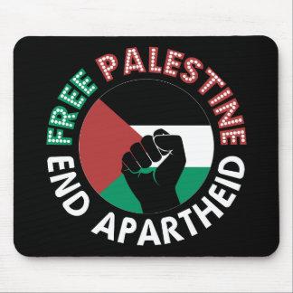 Noir libre de poing de drapeau d'apartheid de fin tapis de souris