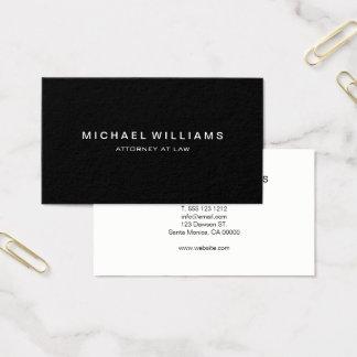 Noir moderne minimaliste professionnel cartes de visite